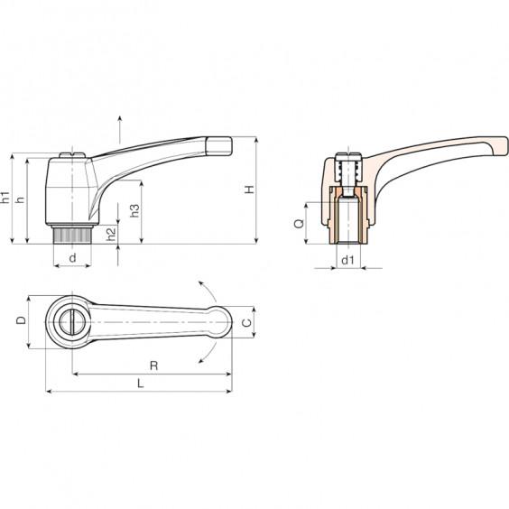 Рычаги стационарные и с зацеплением A580 фото 2