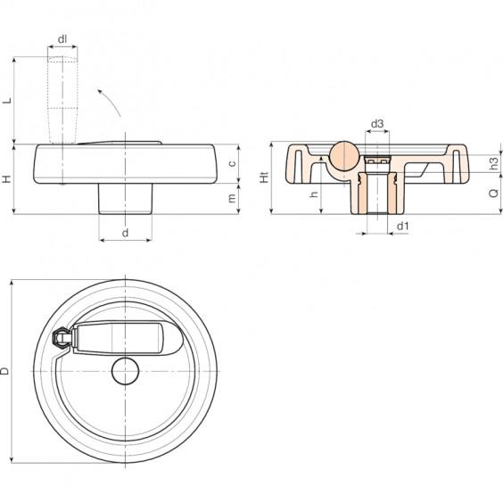 Полнотелые маховики управления C199C фото 2