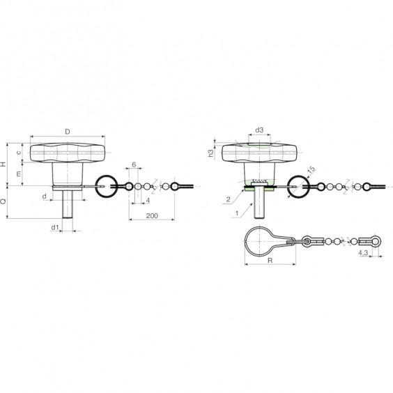 Полнотелые маховички - фиксаторы F178CAT фото 2