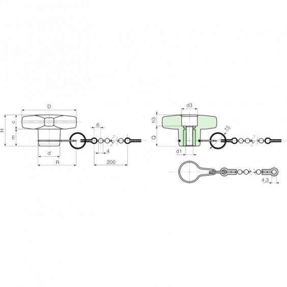 Полнотелые маховички - фиксаторы F188CAT фото 2