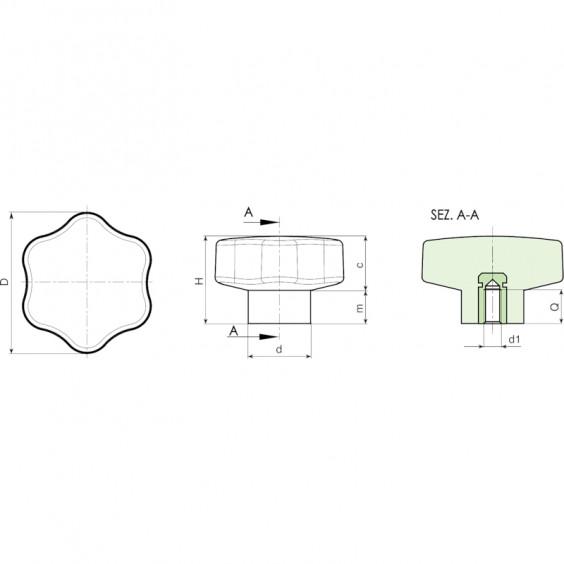 Полнотелые маховички - фиксаторы F200 фото 2
