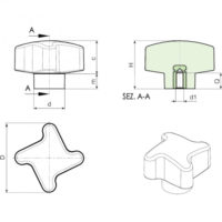 Полнотелые маховички - фиксаторы F210 фото 2