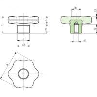 Полнотелые маховички - фиксаторы F275 фото 2
