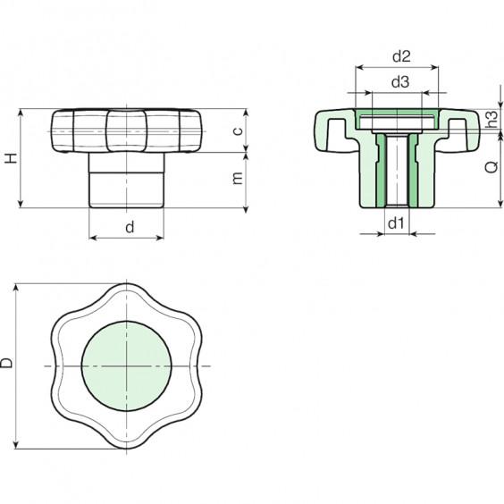 Маховички - фиксаторы G650 фото 2