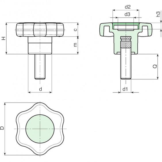 Маховички - фиксаторы G651 фото 2