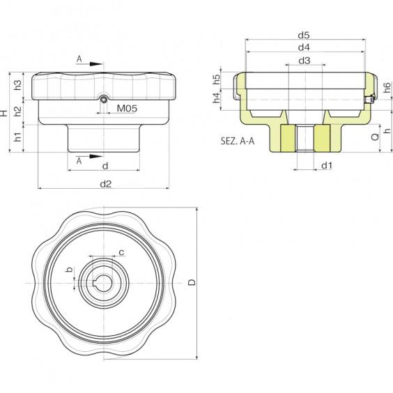 Маховики управления с индикатором K170 фото 2