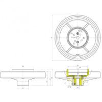 Маховики управления с индикатором K405 фото 3