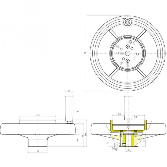 Маховики управления с индикатором K406 фото 2