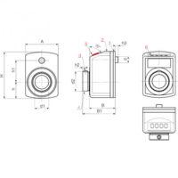 Маховики управления с индикатором K610 фото 2