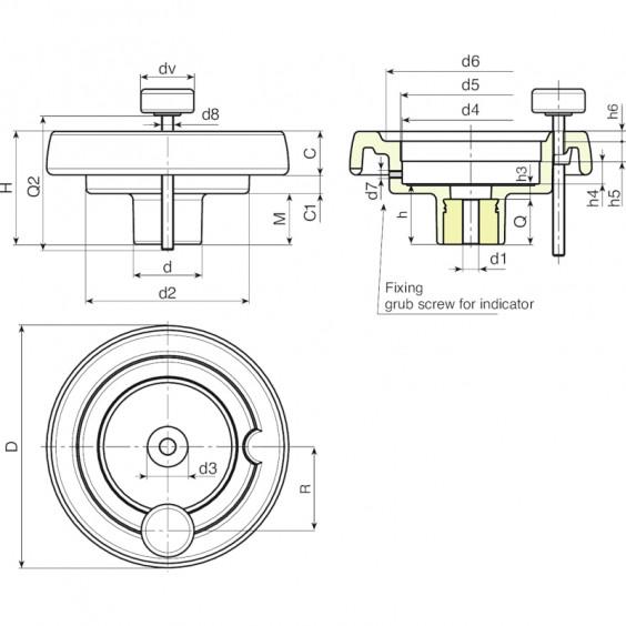 Маховики управления с индикатором K901 фото 2