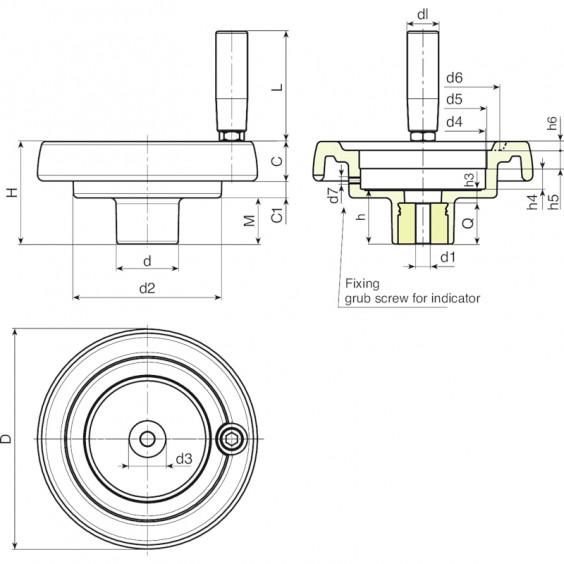 Маховики управления с индикатором K902 фото 2