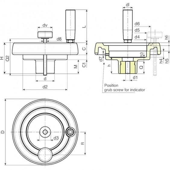 Маховики управления с индикатором K903 фото 2