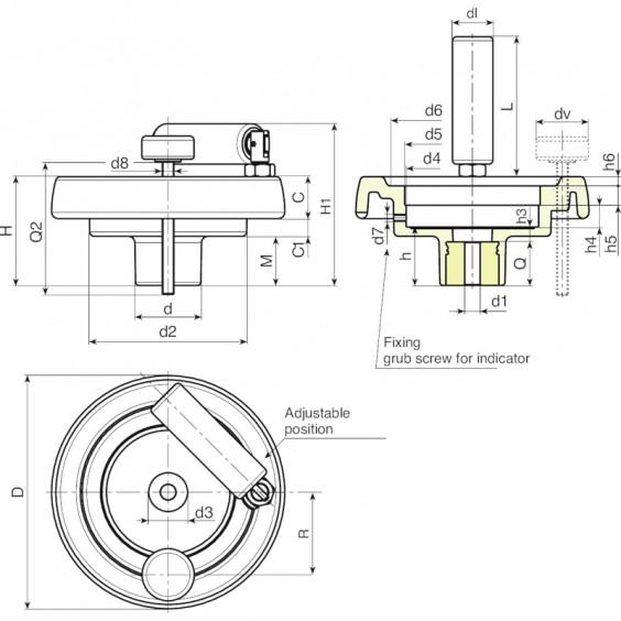 Маховики управления с индикатором K905 фото 2