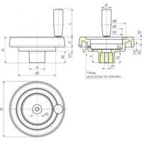 Маховики управления с индикатором K906 фото 2