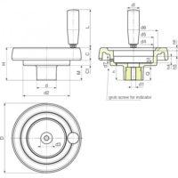 Маховики управления с индикатором K907 фото 2