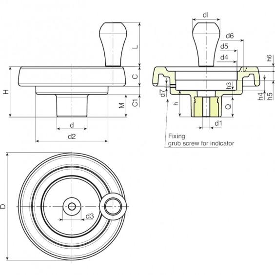 Маховики управления с индикатором K908 фото 2