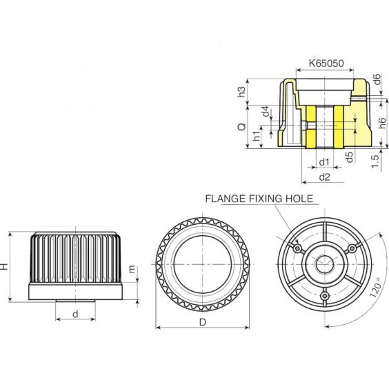 Маховики управления с индикатором K960 фото 2