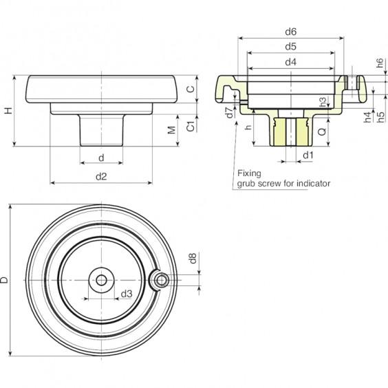 Маховики управления с индикатором KBASE фото 2