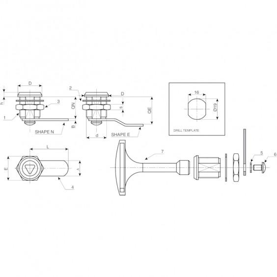 Запирающие устройства J140 фото 2