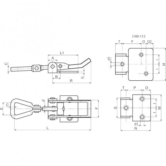 Запирающие устройства J180 фото 2