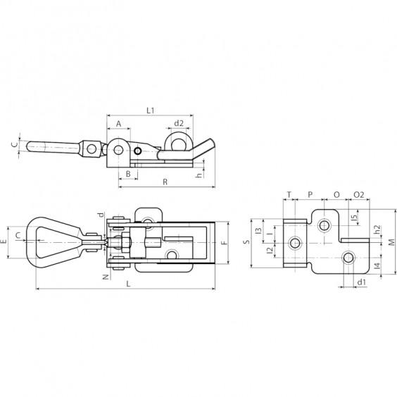 Запирающие устройства J182 фото 3