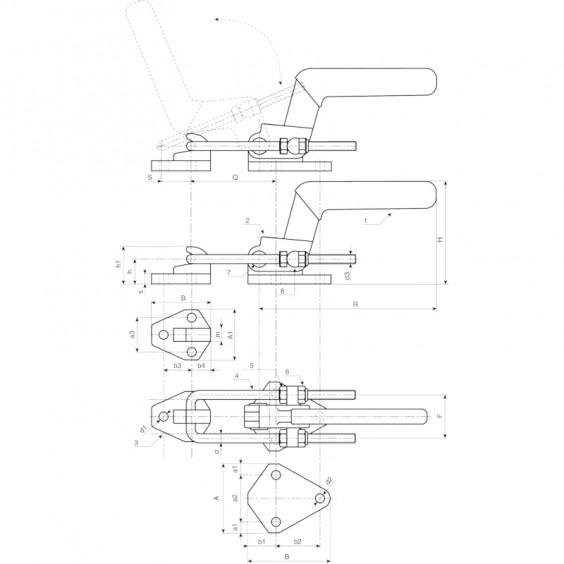 Запирающие устройства J265 фото 2