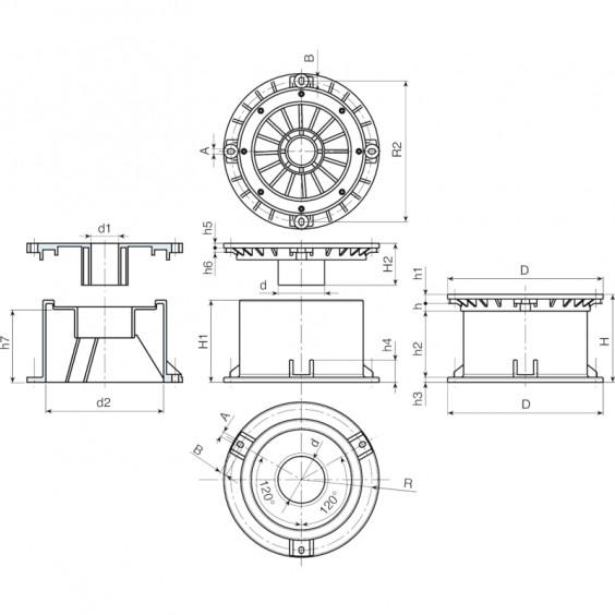 Полнотелые маховички - фиксаторы S802 фото 2