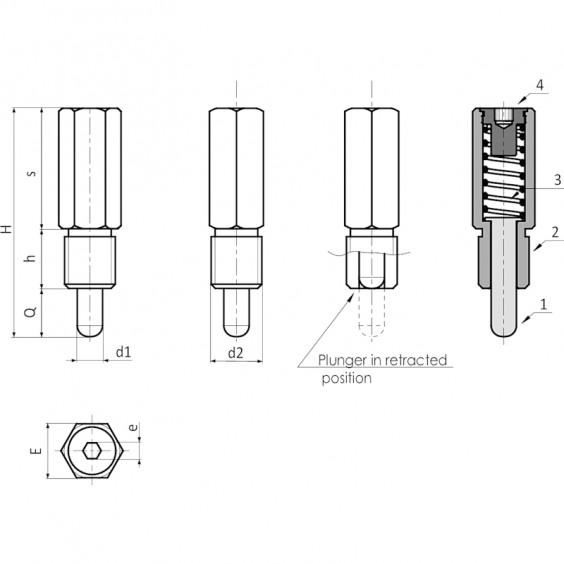 Металлические толкатели W770 фото 2