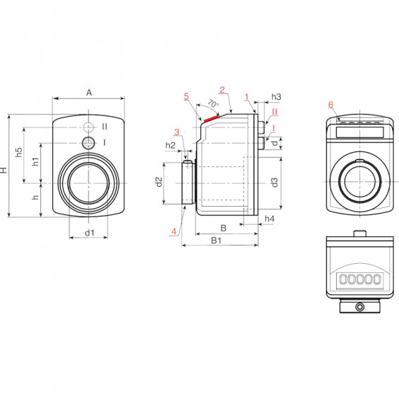 Маховики управления с индикатором K630 фото 2